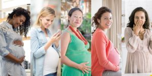 group of pregnant women